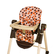 Wupzey Highchair Seat Cover, Orange Dot