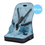 Fairy Baby Portable Feeding Booster Seat Dining Toddler Travel High Chair Cushion,Blue
