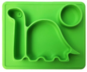"Lilly's Love Silicone Placemat Dinosaur -""THE DINO PAD"" Divided Toddler Food Bowl - Mini"