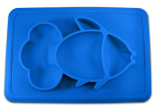 Table Placemat For Baby or Toddler. Silicone Large Size Dish. Booster Seat Dining Plate for Kids.