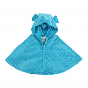 My Blankee Minky Dot Hooded Cape for Baby, Turquoise, 6-12 Months
