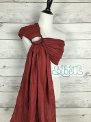 Bibetts Pure Linen Ring Sling 'Crimson Red' Baby Carrier - CPSIA compliant - Infant, Toddler and Baby Carrier