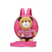 Tobway 3d Animal Bear Toddler Anti-lost Backpack Small School Shoulder Bag Safety Harness