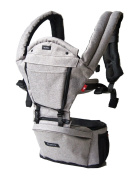 MiaMily Hipster Plus Swiss Brand - Approved by Global Wide Safety Standards - Child & Baby Front Carrier - Protection for Baby & 9 Different Uses - Fits all Sizes - Colour Stone Grey