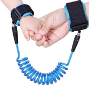 Wua Child Anti Lost Belt Safety Antilost Wristband Cotton Safe Wrist Strap 1.5m for Kids/ Baby/ Toddlers