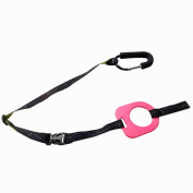 Kidsmile By-My-Side Child Safety Harness, Adjustable Toddler Tether with Baby Child Anti Lost Safety Wristband and Hang on Spring-loaded Gate Locking Carabiner, Perfect Security Kid Keeper,Rose Red