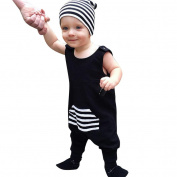 GOTD Newborn Infant Baby Boy Girl Sleeveless Stripe Romper Jumpsuit Outfits Clothes