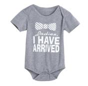 Singleluci Newborn Baby Letter Print Cotton Romper Jumpsuit Clothes