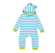 Baby Clothes Long Sleeve Striped Hooded Romper Jumpsuit Singleluci