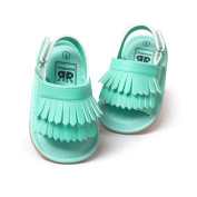 Kangnice Baby Girl Summer Sandals Floral Double Tassel PU Leather Child Baby Moccasins Infant