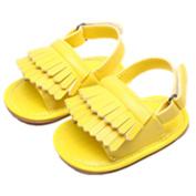 E-Papaya Baby Boys Girls Soft Sole Anti-Slip Tassel Moccasins PU Leather Summer Sandals