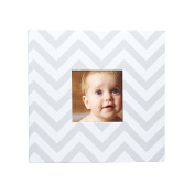 Pearhead Chevron Baby Photo Album, Grey