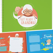 BEST GRANDMOTHER GIFT - An Adorable Baby Keepsake Book For Treasure The Best Moments with Grandma and Grandchild. Grandma Presents, Granny Gifts, Scrapbook Albums.