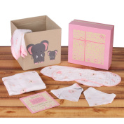 Baby Shower Gift Set for Girls by Baby Zane, Unique Muslin Cotton New Baby Essentials, Adorable Storage Basket, Arrives in Beautiful Box Ready to Give