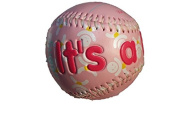 Its a Boy (Blue) and It's a Girl (Pink) Self Personalised Baby Gifts. Great ideas for Keepsakes, Shower Favours and Gender Reveals. Basketball, Football and Baseball.