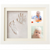 Baby Handprint and Footprint Photo Frame kit ,Sweetauk Baby shower Keepsake,Perfect Baby Shower Gift