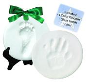 DELUXE Clay Hand Print & Footprint Keepsake Kit - Dries Stone Hard - No Bake - Air Drying
