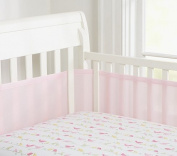 Teeny4Baby Portable/Mini Crib Breathable Bumper, Mesh Crib Liner for Cradles