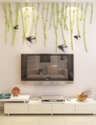 DecorSmart Hanging Vine Plastic Peel and Stick Wall Decals (43(H) x 80(W) inches) - Aqua and Black
