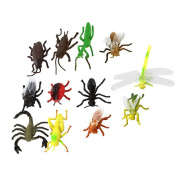 Jooks Children's Model Plastic Insect Toy Party Tricks Funny Plastic Animal Insect Pack of 12 pcs Multicolor