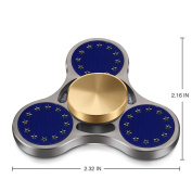 TOOBOM Metal Fidget Spinner Last 3 Minutes, Quality Bearing Quiet Fidget Toy Stress Reducer Hand Spinner Tri Spinner for Kids Children Adult