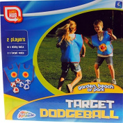Grafix Target Dodgeball - Soft Fun Ball Game - Complete With Hook and loop Vests!
