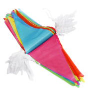Haobase 38m Plastic Party Bunting Banner Multi-Colour, 100 Flags Pennant Double Sided Party Decoration