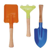 Kids Gardening Tools 3 Piece Set Comes with Small Rake Spade and Trowel Garden Toys for toddlers by UMKY