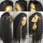 Fushen Hair 360 Lace Frontal Wigs 250% Denisty Lace Front Human Hair Wigs for Black Women Curly Brazilian Virgin Hair Pre Plucked 360 Lace Wigs with Baby Hair