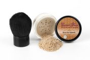 Sweet Face Minerals 2 Pc Foundation Kabuki Kit Mineral Makeup Set Bare Skin Sheer Powder Cover