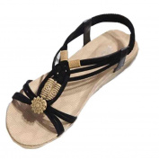. Women Sandals,Canserin Women's 2017 Summer Bohemia Sweet Beaded Sandals Clip Toe Sandals Beach Shoes (6.5 B