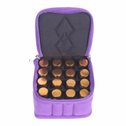 BestFire 16-Bottle Essential Oil Carrying Case with Portable Handle and Strong Double Zipper for Travel and Home - Holds 5ml, 10ml, 15ml and Roll-Ons Bottles
