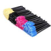 Xiaoyu 400PCS Multicolor Disposable Mascara Wands Eyelash Applicator Eyebrow Brush - Style B