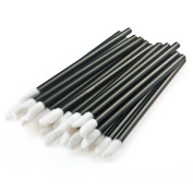 FlyItem 200 Pcs Disposable Lip Brush Lipstick Gloss Wands Applicator Eyeliner Brushes Makeup Brushes Cosmetic Tool