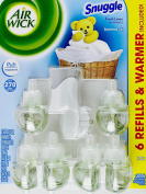 Air Wick Snuggle Fresh Linen, 6 Scented Oil Refills & Warmer