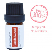 Sandalwood Essential Oil by Simply Earth - 5ml, 100% Pure Therapeutic Grade