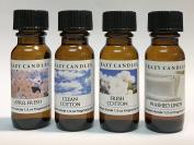 4 Bottles Set, 1 April Fresh, 1 Clean Cotton, 1 Fresh Cotton, 1 Washed Linen 1/2 Fl Oz Each (15ml) Premium Grade Scented Fragrance Oils By Crazy Candles