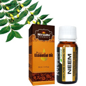 Neem Oil from Niradhi Herbals : Best Therapeutic Grade Essential Oil-30 ml/1 FL OZ
