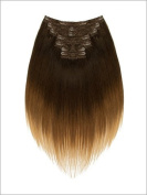 LORD & CLIFF SEVEN PIECE STRAIGHT REMY HAIR CLIP IN EXTENSION 50cm BLONDE BROWNIE