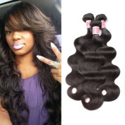 Beauty Princess 9A Mink Brazilian Body Wave Hair Weave Bundles 3pc Remy Hair 100% Brazilian Virgin Human Hair Body Wave Bundles 8-28 inchs Natural Black Colour