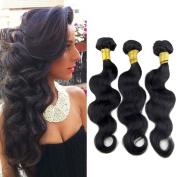 Mode Works 7A Brazilian Remy virgin Hair Body Wave 3 bundles Bleached Knots Baby Hair extensions weaves 100g/per bundles 100% Human Hair