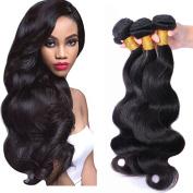 Brazilian Virgin Body Wave Remy Human Hair 3 Bundles, Cecillia 9A Weaves 100% Unprocessed Extensions Natural Colour Hair