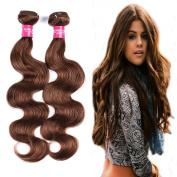 Wome Hair Peruvian Body Wave Virgin Human Hair 3 Bundles Deal 8A Grade Medium Aubure Hair Extensions Body Wave Mixed Length Hair Wavy Weaves Pure Colour 30#