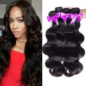 OYM HAIR Brazilian Virgin Hair Body Wave 4 Bundles 100% Real Human Hair Extensions Cheap Unprocessed Brazilian Hair Natural Colour 100g/pc