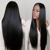 OYM HAIR Brazilian Straight Hair 4 Bundles 100% Unprocessed Virgin Human Hair Extensions Silky Straight Weave Natural Colour