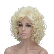 Lydell Short Soft Super Curly Layered Natural Movement Synthetic Wig Wigs #613 Blonde