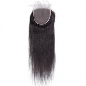 Bolin Hair 5x5 Silky Straight Lace Closure with Baby Hair Human Hair Brazilian Virgin Hair Closure Free Part Bleached Knots Natural Colour