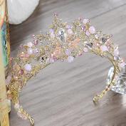 Bridalvenus Gold Wedding Crown Bridal Tiaras Princess Purple Headband for Women and Girls