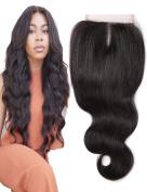 Grace Length Hair 8A Brazilian Body Wave Lace Front Closure Piece 10cm x 10cm Virgin Human Hair Closure No Bleached Knots Lace Closure