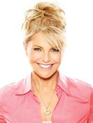 Natural Tone Hair Wrap by Christie Brinkley Heat Friendly Womens Hairpiece Fun Bun Chignon - HT14/88H Light Blonde